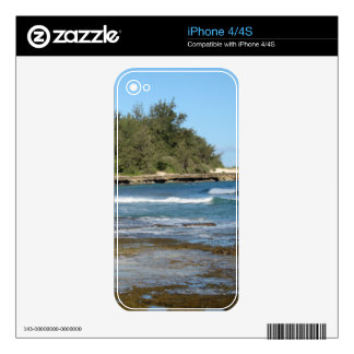 The Beautiful Turtle Bay in Oahu Hawaii Decals For The iPhone 4S