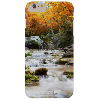 The beautiful waterfall in forest, autumn barely there iPhone 6 plus case