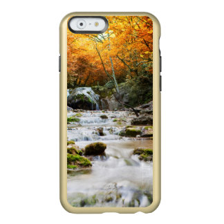The beautiful waterfall in forest, autumn incipio feather shine iPhone 6 case