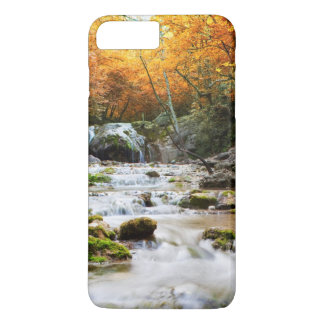 The beautiful waterfall in forest, autumn iPhone 7 plus case