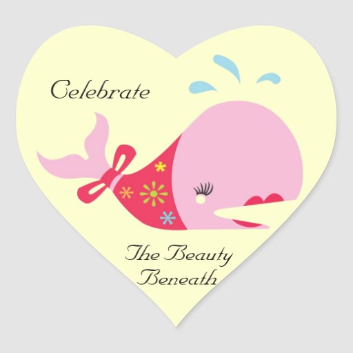 The Beauty Beneath_Pinkie The Whale Heart Sticker