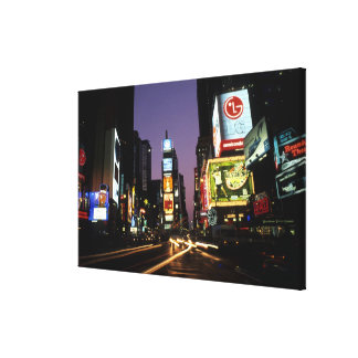 The beauty color and energy of famous Times Canvas Print