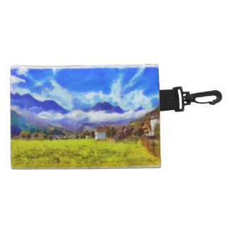 The beauty of a Swiss landscape Accessory Bag