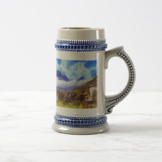 The beauty of a Swiss landscape Beer Stein