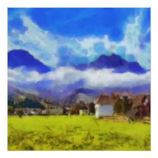 The beauty of a Swiss landscape Poster