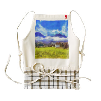 The beauty of a Swiss landscape Zazzle HEART Apron