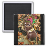 The Beauty Of An African Jungle Flower 2 Inch Square Magnet