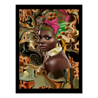 The Beauty Of An African Jungle Flower Poster