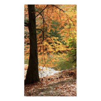 The Beauty of Autumn bookmark Business Card