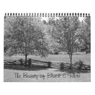 The Beauty of Black & White Calendar