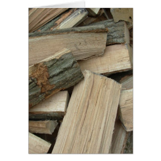 The Beauty of Firewood Greeting Card
