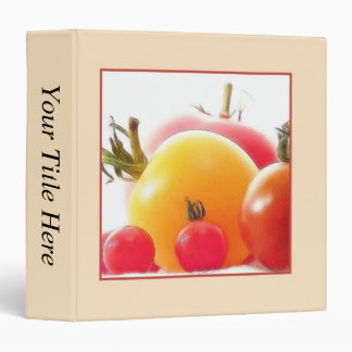 The Beauty Of Heirloom Tomatoes 3 Ring Binder