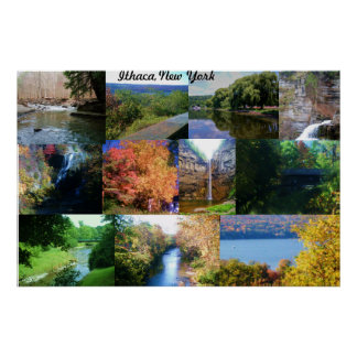 THE BEAUTY OF ITHACA, NEW YORK  poster