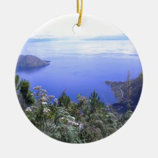 The Beauty of Lake Toba Ceramic Ornament