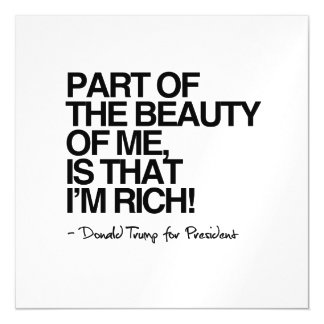 The Beauty of me is that I'm Rich - Donald Trump Magnetic Card
