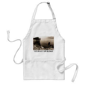 The beauty of silence adult apron