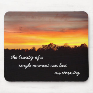 the beauty of single moment mouse pad