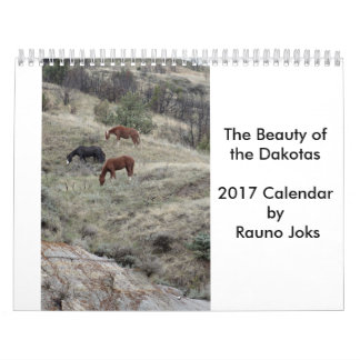 The Beauty of the Dakotas 2017 Calendar