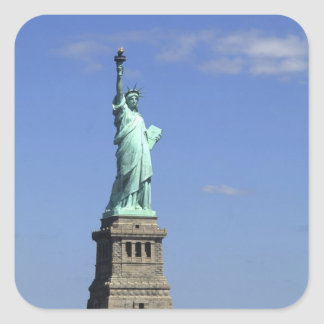 The beauty of the famous Statue of Liberty on Square Sticker