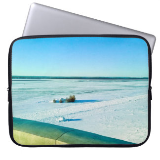 The beauty of the snow and cold. laptop sleeve