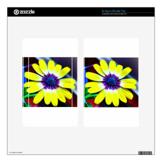 The Beauty of Yellow and Purple Decals For Kindle Fire