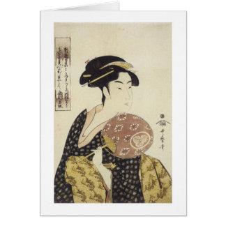 The Beauty Ohisa, Utamaro, 1792-95 Card