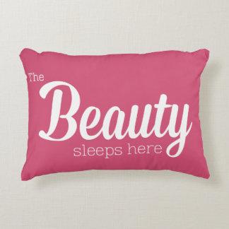 The Beauty Sleeps Here Decorative Pillow