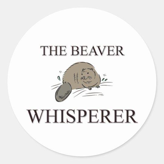 The Beaver Whisperer Classic Round Sticker