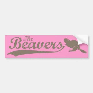 THE BEAVERS TEAM -.png Car Bumper Sticker