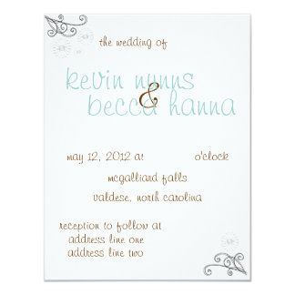 "the Becca Collection 4.25"" X 5.5"" Invitation Card"