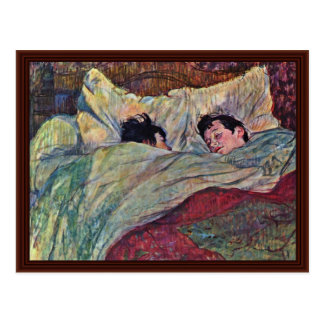 The Bed,  By Toulouse-Lautrec Henri Postcard
