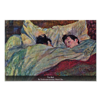 The Bed,  By Toulouse-Lautrec Henri Print