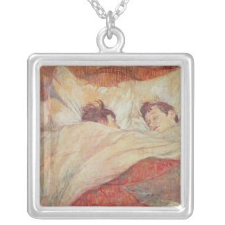 The Bed, c.1892-95 Square Pendant Necklace