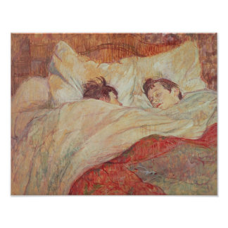 The Bed, c.1892-95 Poster