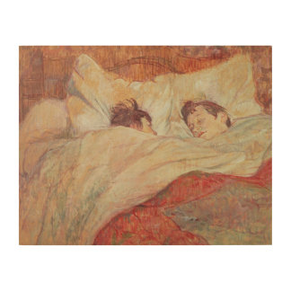 The Bed, c.1892-95 Wood Wall Art