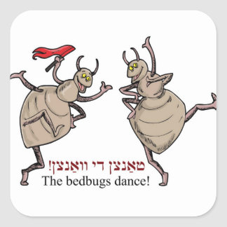 The bedbugs dance! square stickers