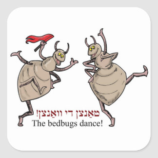 The bedbugs dance! square sticker