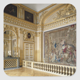 The bedchamber of Louis XIV Square Sticker