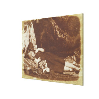 The Bedfellows, c.1843-47 (salted paper print from Canvas Print
