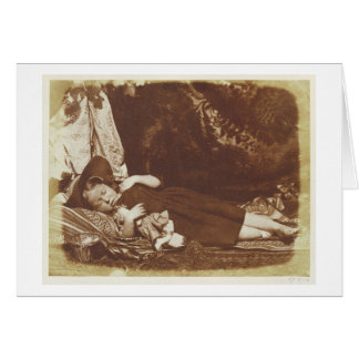 The Bedfellows, c.1843-47 (salted paper print from Greeting Card