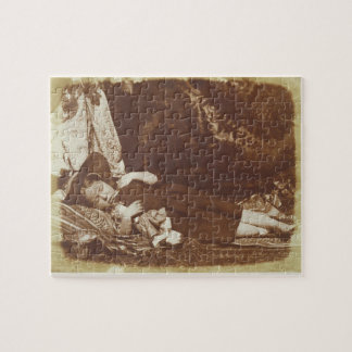 The Bedfellows, c.1843-47 (salted paper print from Jigsaw Puzzle