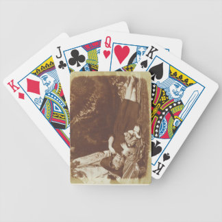 The Bedfellows, c.1843-47 (salted paper print from Poker Cards
