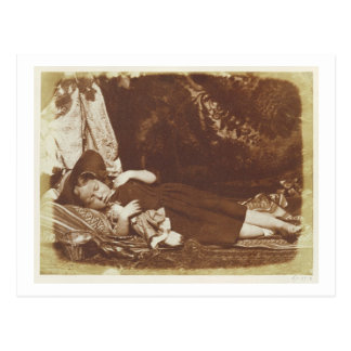 The Bedfellows, c.1843-47 (salted paper print from Postcard