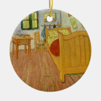 The Bedroom, 1888 (oil on canvas) Christmas Tree Ornament