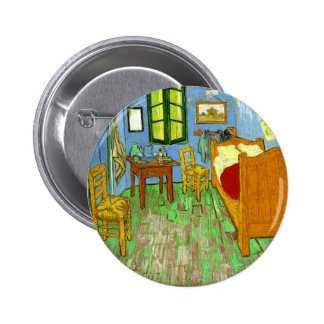 The Bedroom at Arles, Van Gogh Button