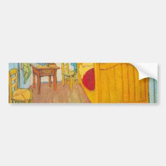 The bedroom in Arles. Saint-Remy by van Gogh Car Bumper Sticker