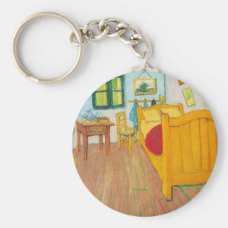The bedroom in Arles. Saint-Remy by van Gogh Keychain