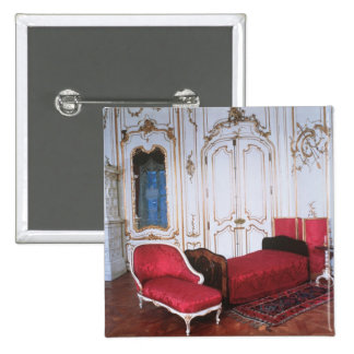 The Bedroom of Elizabeth of Bavaria 2 Inch Square Button