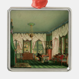 The Bedroom of Elizabeth of Bavaria Metal Ornament