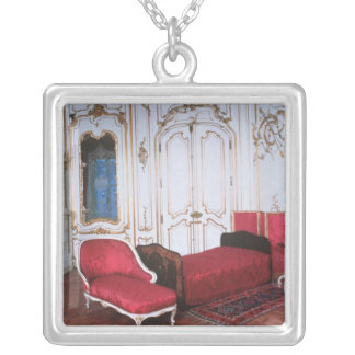 The Bedroom of Elizabeth of Bavaria Square Pendant Necklace